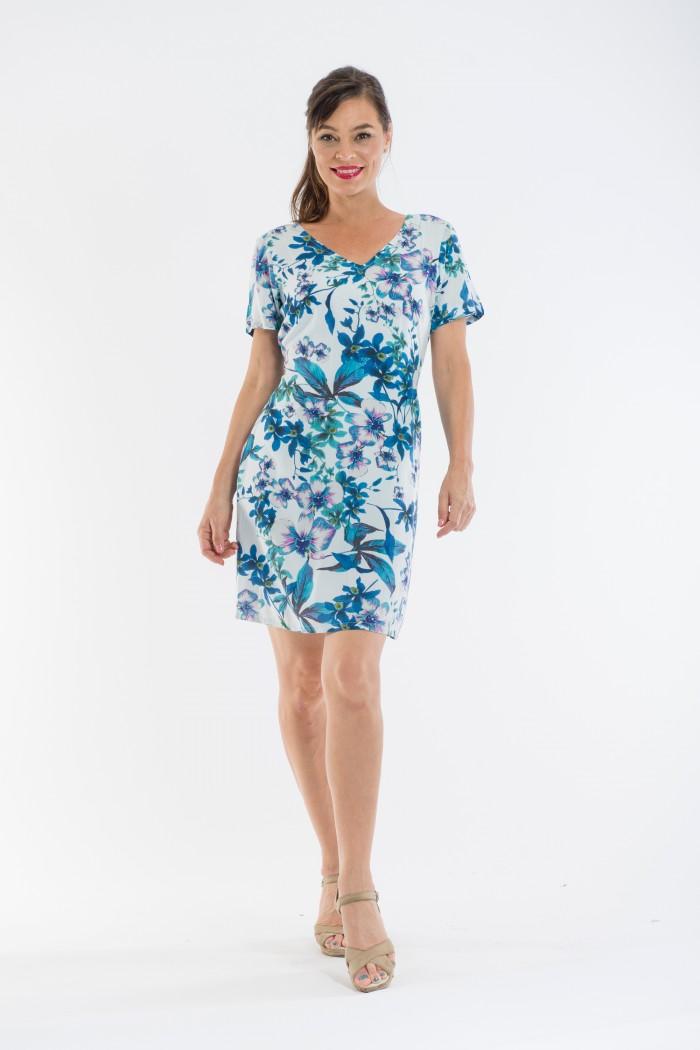 OQ Short Sleeve Shift Dress