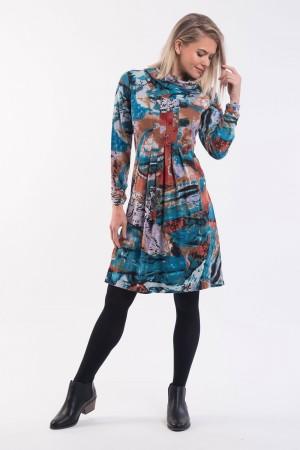 OQ Dress Cowl Neck
