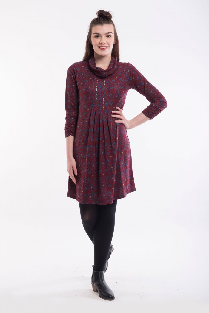 OQ Tunic Cowl Neck