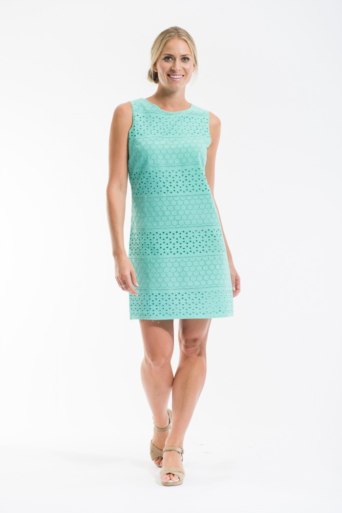 OQ Broderie Shift Dress