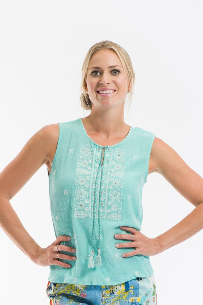 OQ Embroidered Cami