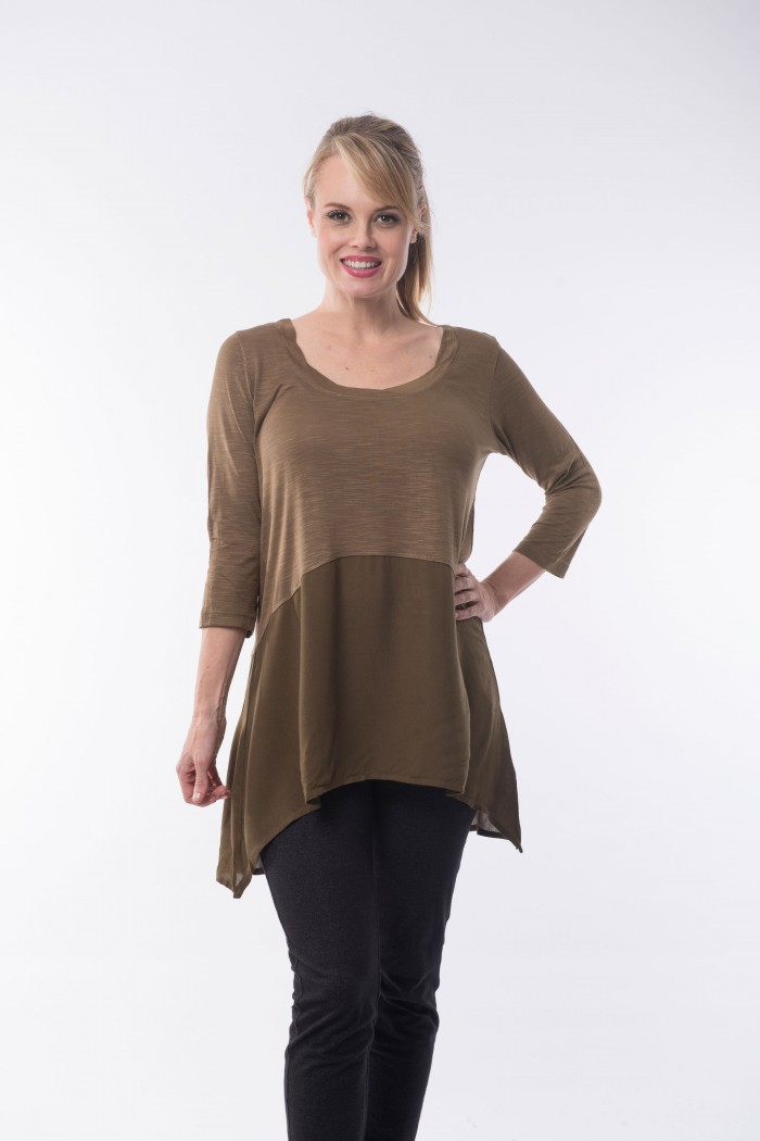 OQ Tunic 3/4 Sleeve