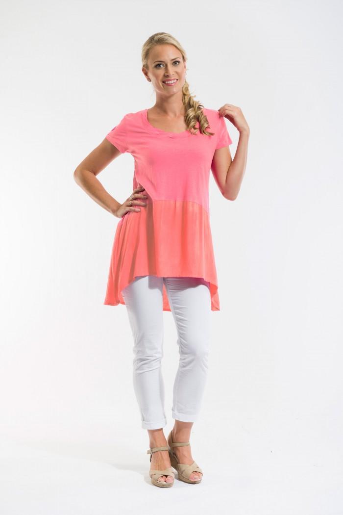 OQ Knit Tunic Short Sleeve