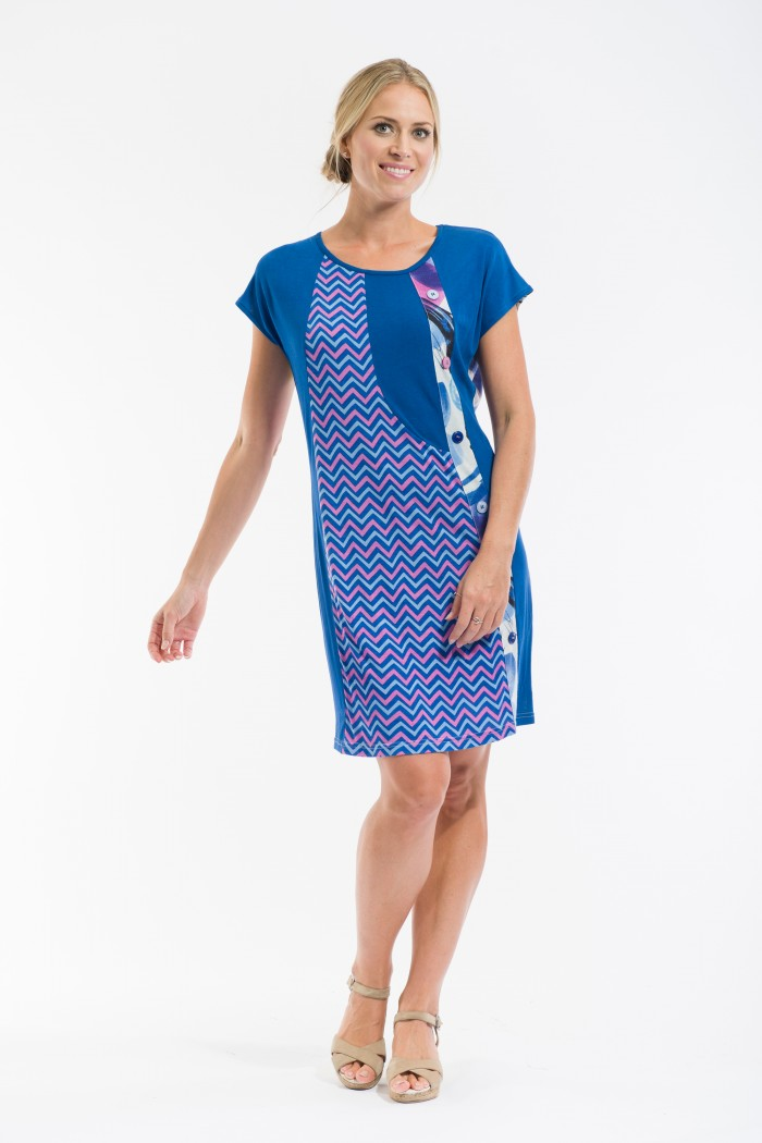 OQ Shift Dress Cap Sleeve