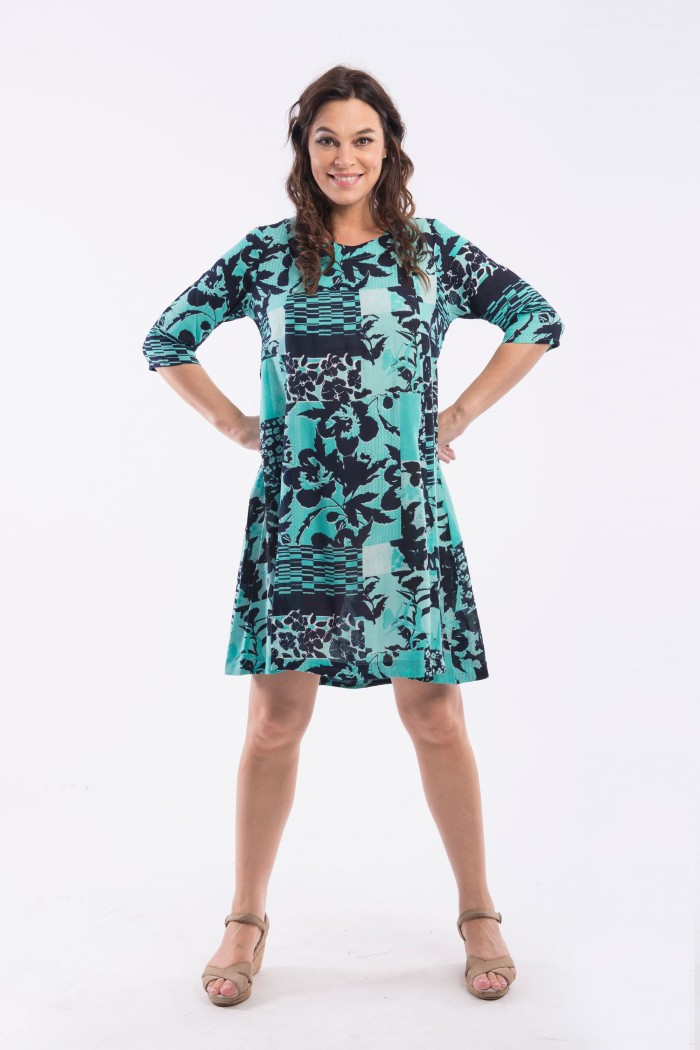 OQ 3/4 SLEEVE DRESS