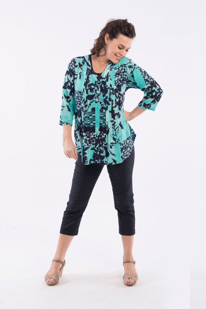OQ PLEATED BLOUSE