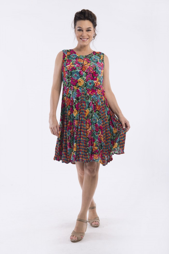OQ SLEEVELESS GODET DRESS