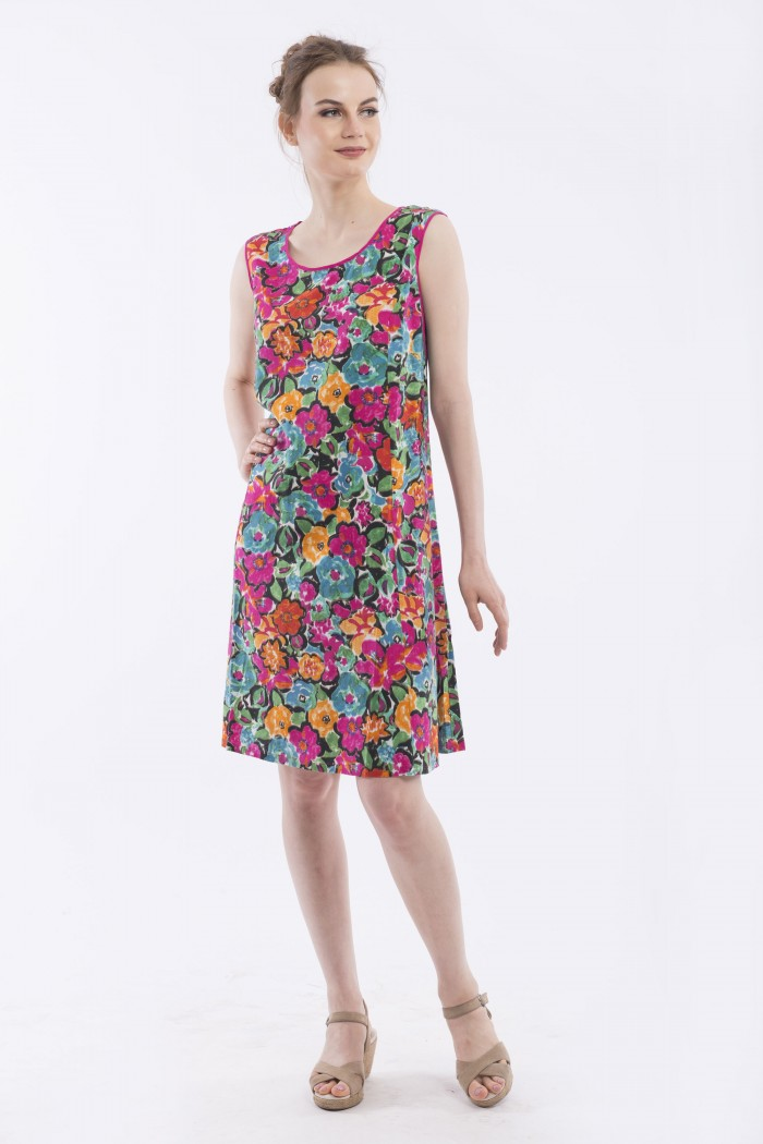 OQ SIDE GUSSET DRESS