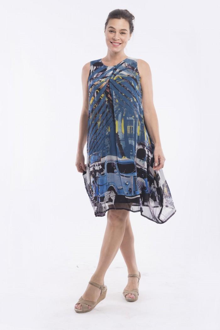 OQ PLEAT FRONT DRESS