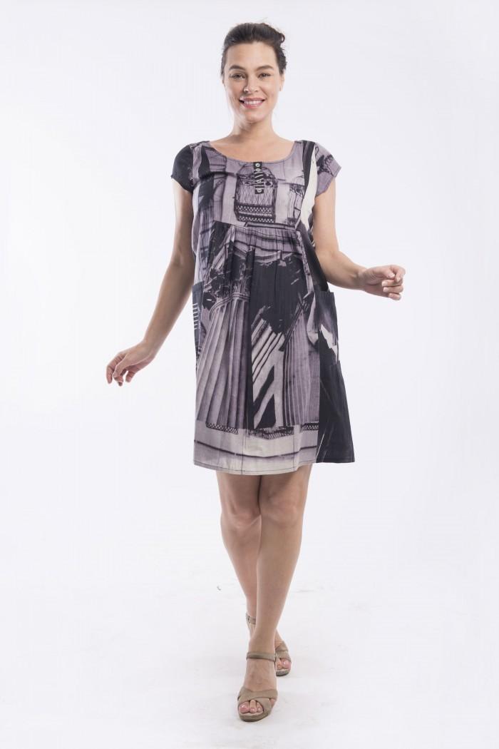 OQ RUCHED DRESS