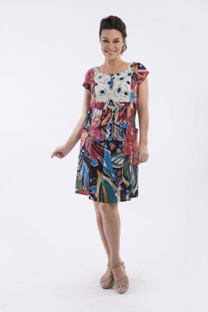 OQ GATHERED FRONT DRESS