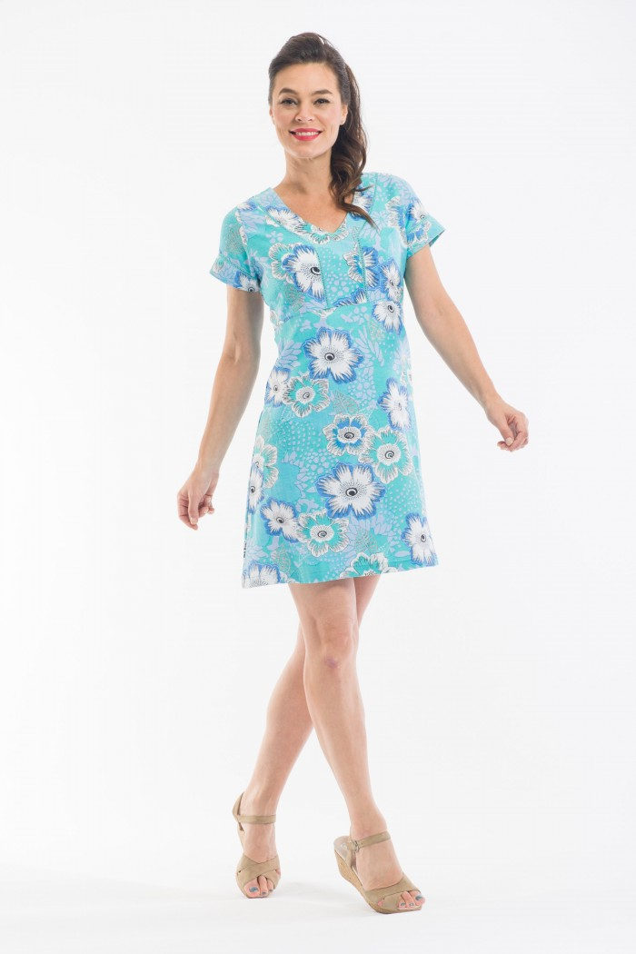 OQ Shift Dress Short Sleeve