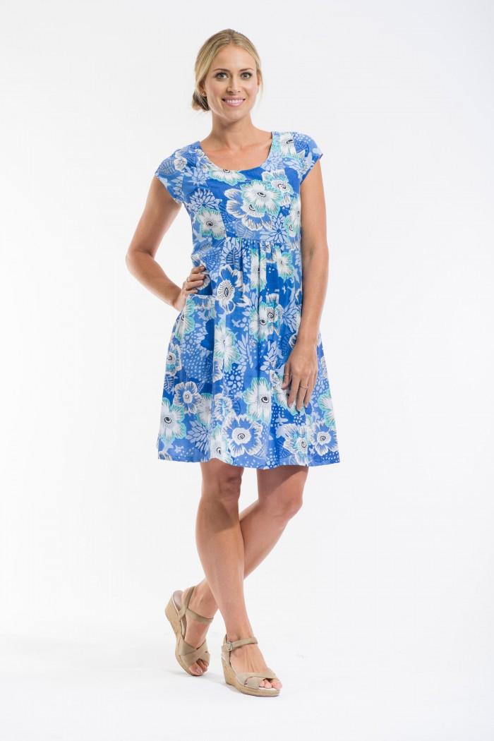 OQ Pocket Dress Cap Sleeve