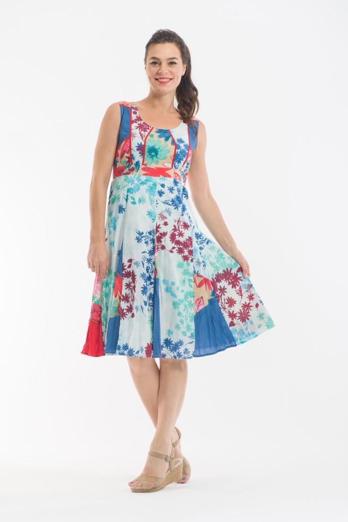 OQ Flaired Godet Dress