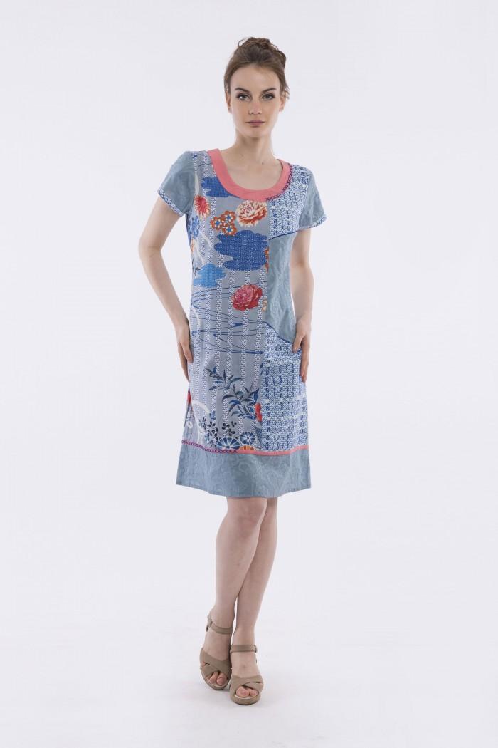 OQ SS SHIFT DRESS