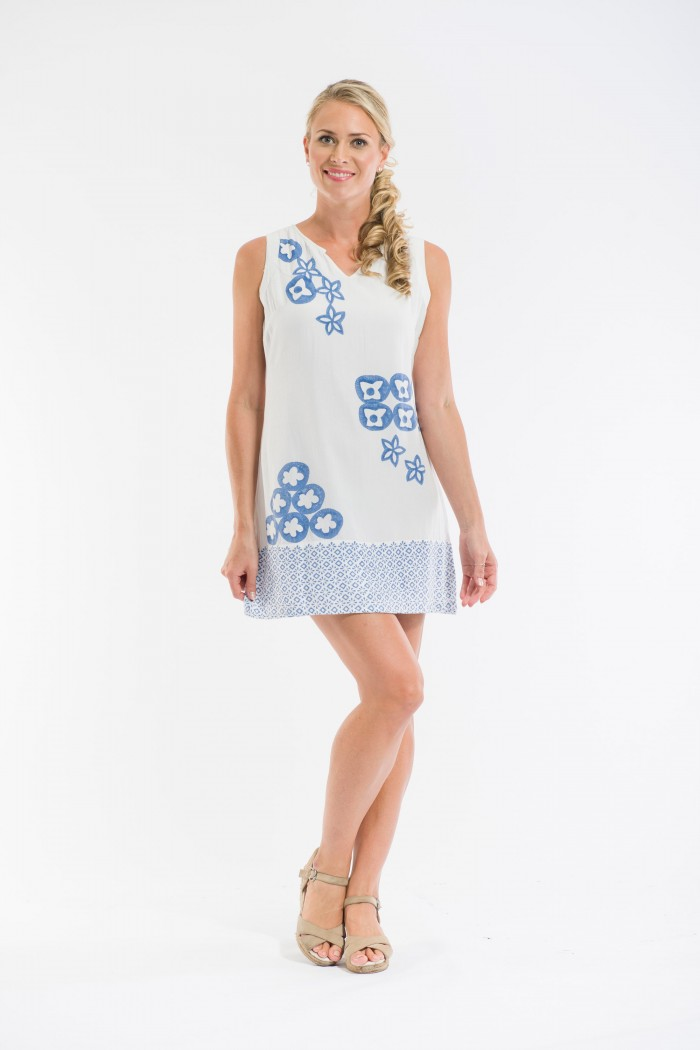 OQ Block Printed Shift Dress
