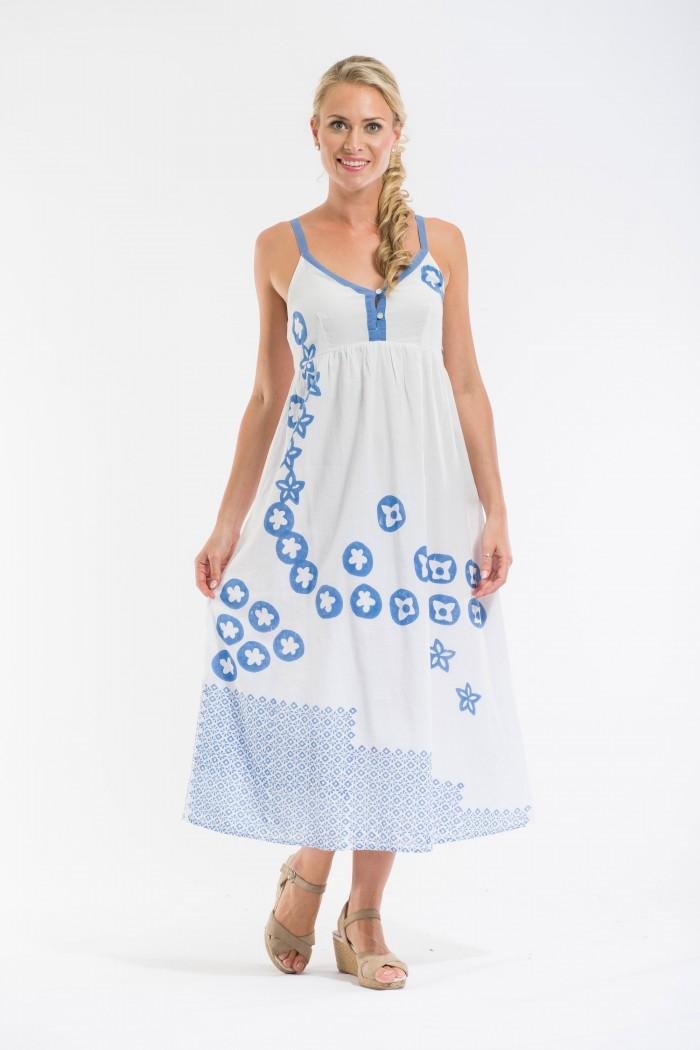 OQ Block Printed Maxi Dress