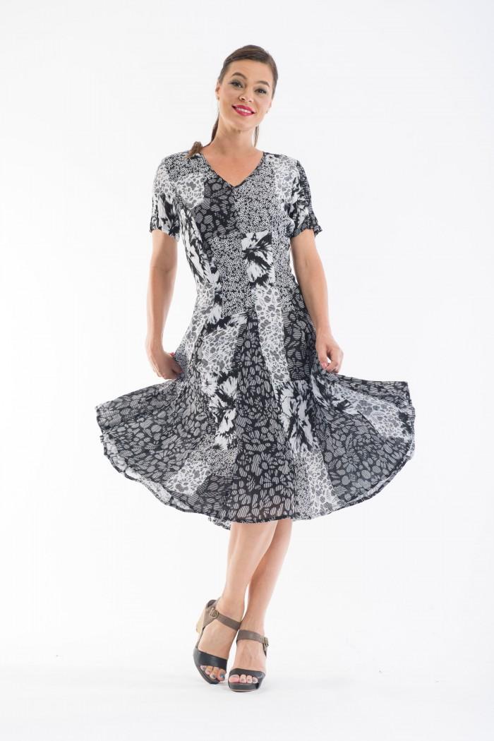 OQ Godet Dress