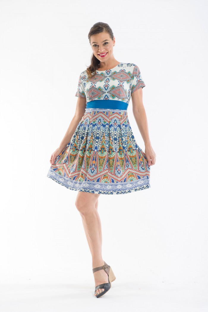 OQ Box Pleat Dress