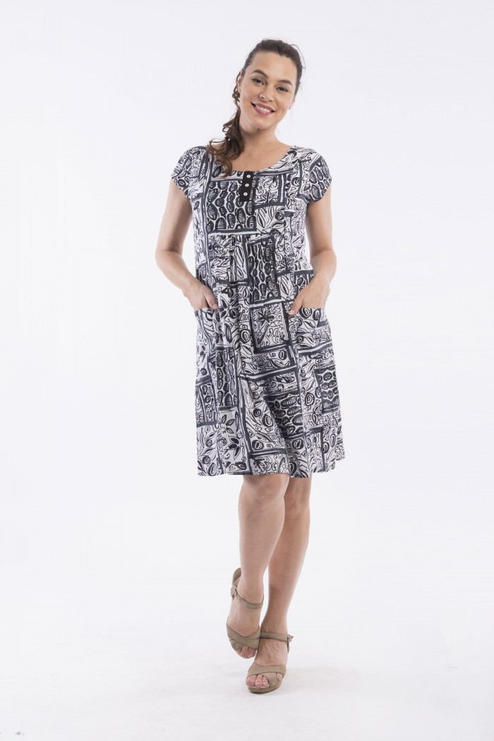 OQ RUCHED DRESS