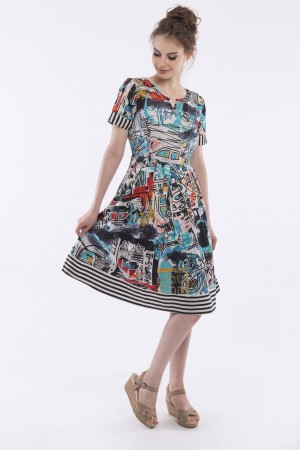 OQ BOX PLEAT DRESS