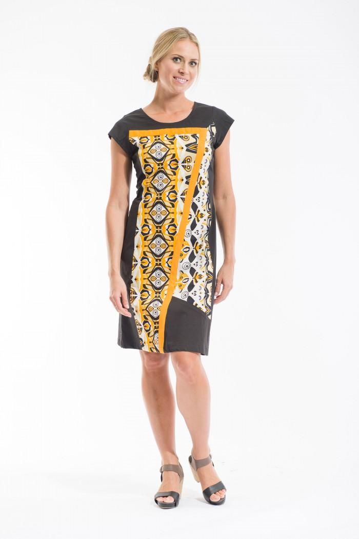 OQ Shift Dress 3/4 Sleeve