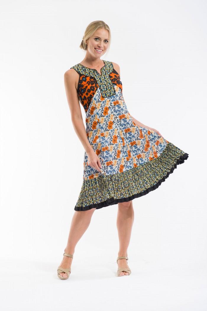 OQ Pleated Skirt Dress