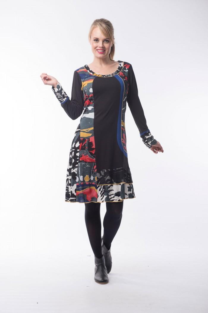 OQ Dress Frill Hem