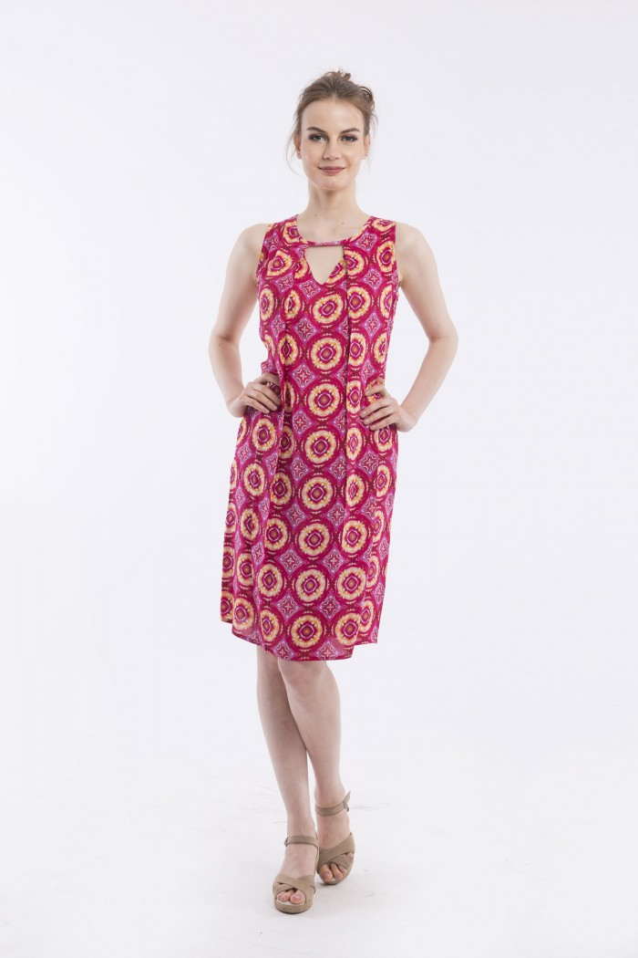 OQ PLEAT FRONT DRESS