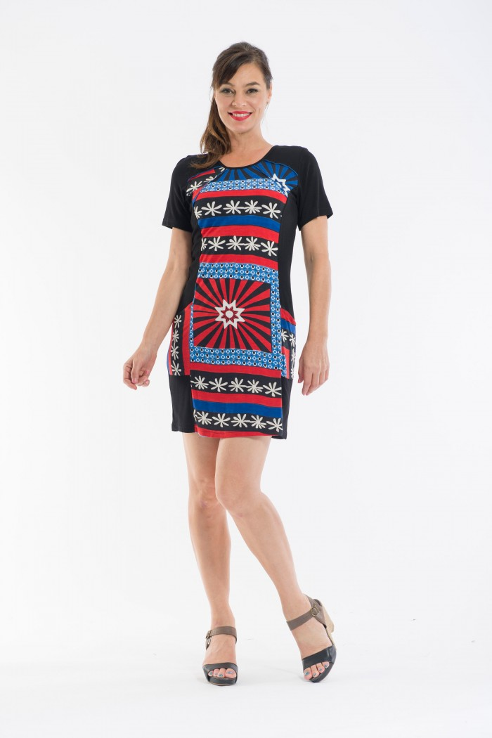 OQ Knit Dress Short Sleeve